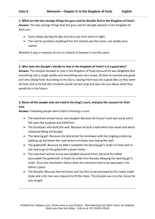 CBSE9 English Moments - 4 part-1