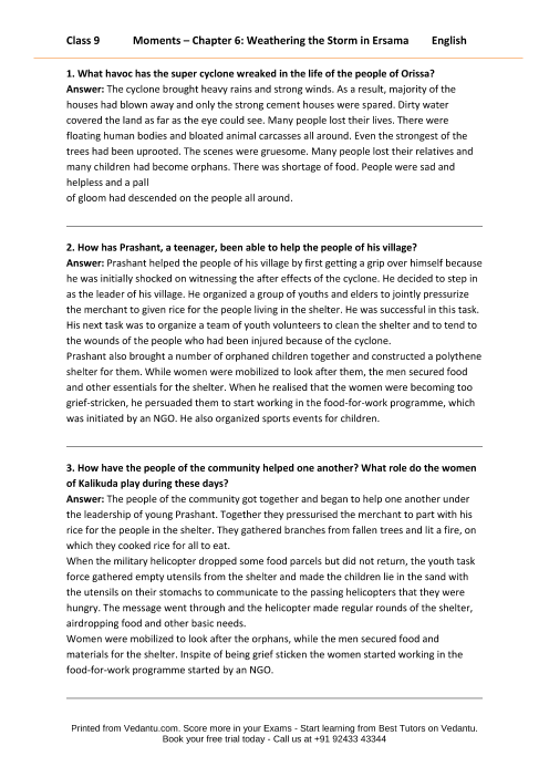 CBSE9 English Moments - 6 part-1