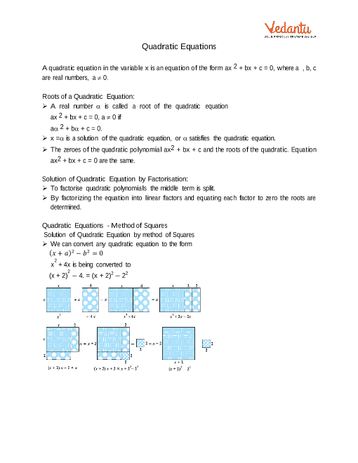Chapter 4 - Quadratic Equations part-1