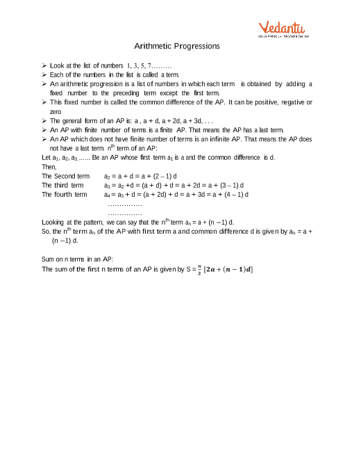 Chapter 5 - Arithmetic Progressions part-1