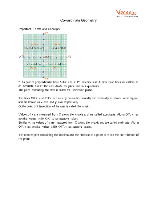 Chapter 7 - Coordinate Geometry part-1