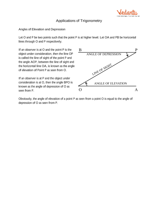 Chapter 9 - Some Applications of Trigonometry part-1