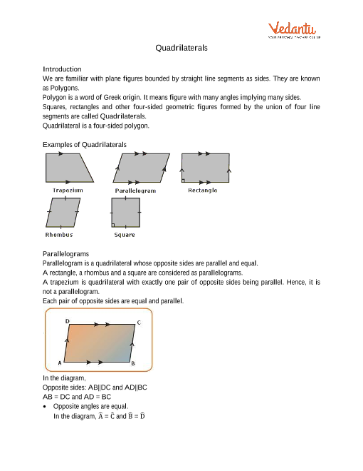 Chapter 8 - Quadrilaterals part-1