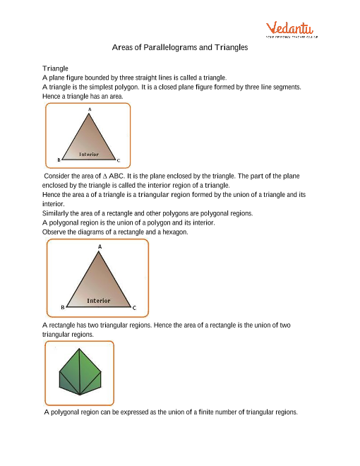 Chapter 9 - Areas of Parallelograms and Triangles part-1