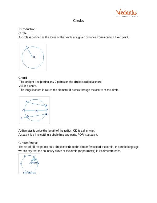 Chapter 10 - Circles part-1