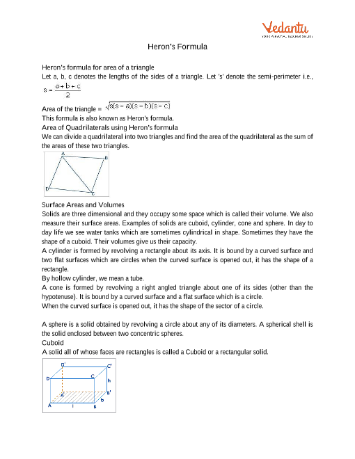 Chapter 12 - Herons Formula part-1