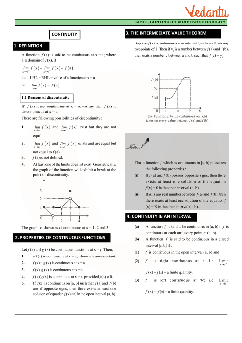Chapter 5 - Continuity and Differentiability Revision Notes part-1