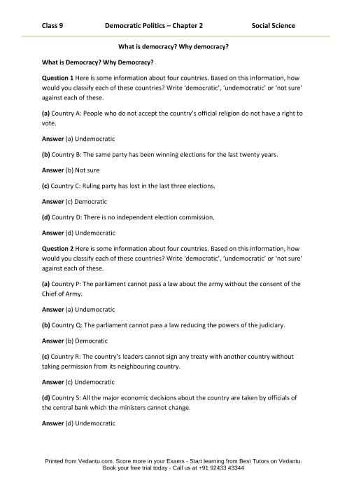 CBSE9 Democratic Politics - Chapter 2 part-1