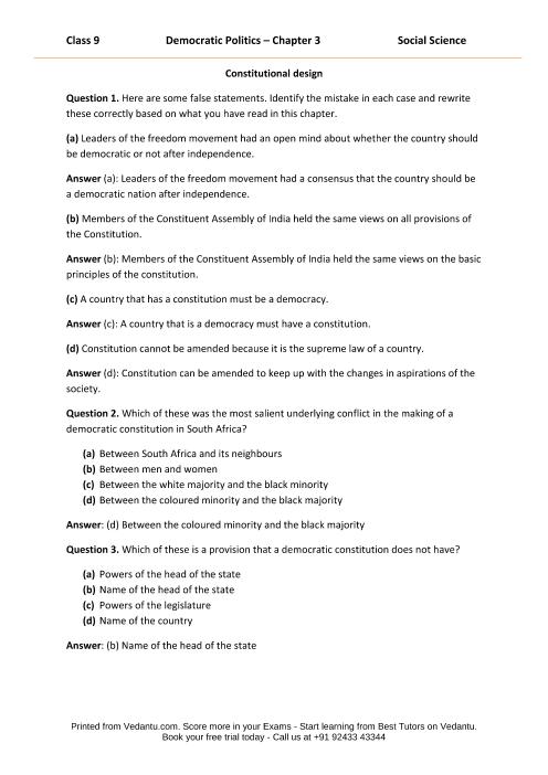 CBSE9 Democratic Politics - Chapter 3 part-1