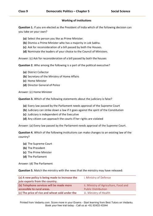 CBSE9 Democratic Politics - Chapter 5 part-1