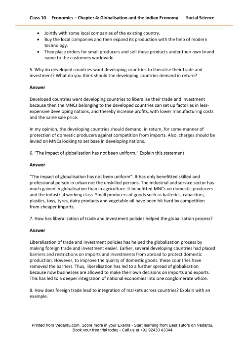 Ncert Solutions For Class 10 Social Science Understanding Economic