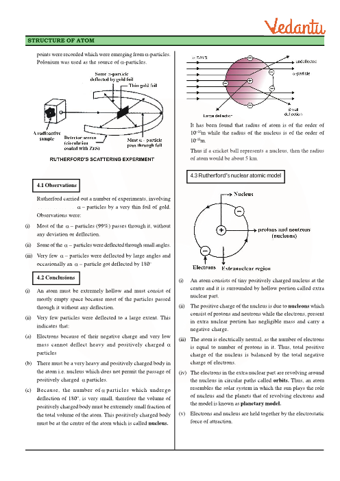 Class 11 Chemistry Revision Notes For Chapter 2 Structure Of Atom
