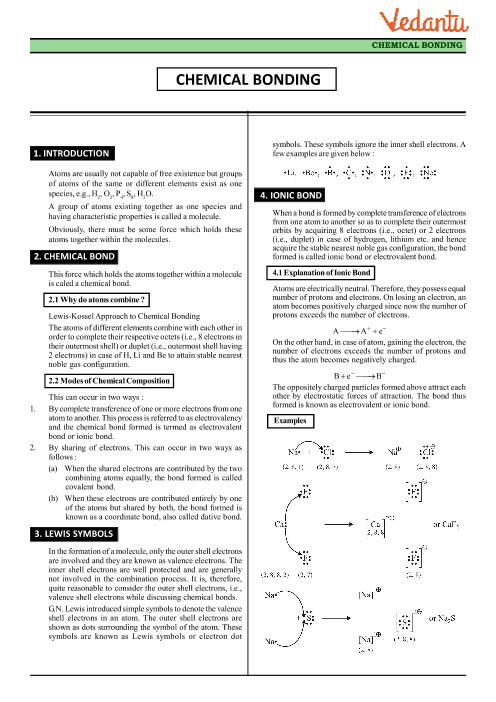 Chemical Bonding And Molecular Structure Class 11 Pdf