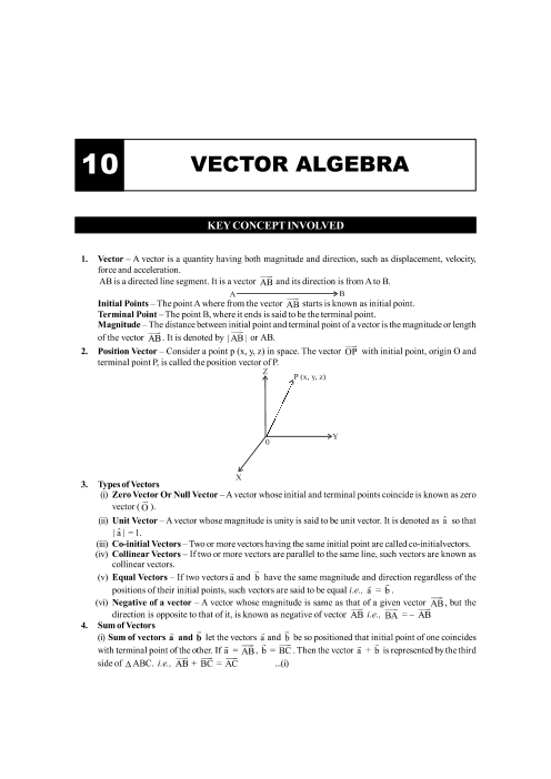 Chapter-10 Vector Algebra Formula part-1