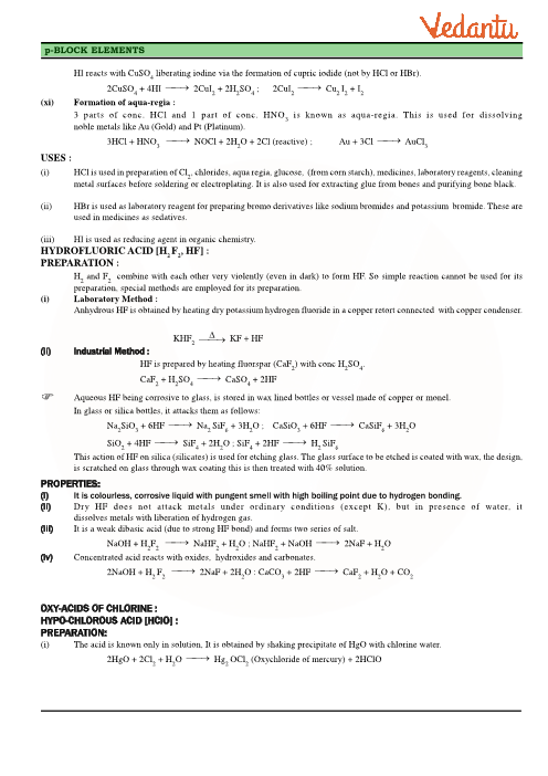 Class 12 Chemistry Revision Notes For Chapter 7 The P Block Elements