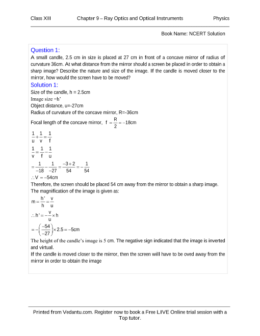 Ncert Physics Solution Pdf
