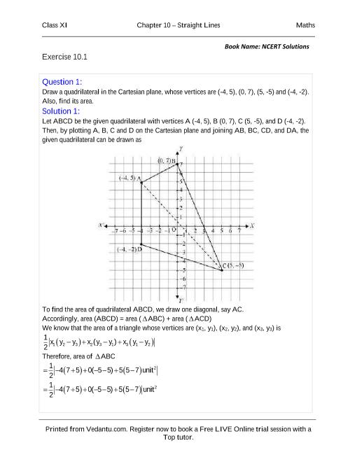 NCERT Solutions for Class 11 Maths Chapter 10 part-1