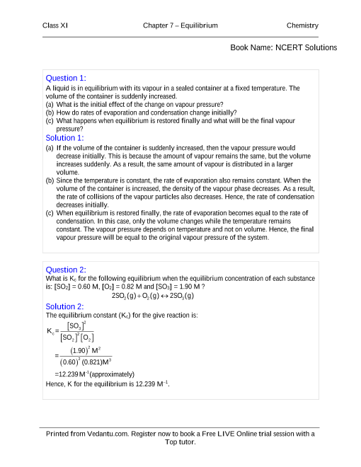 NCERT Solutions for Class 11 Chemistry Chapter 7 part-1