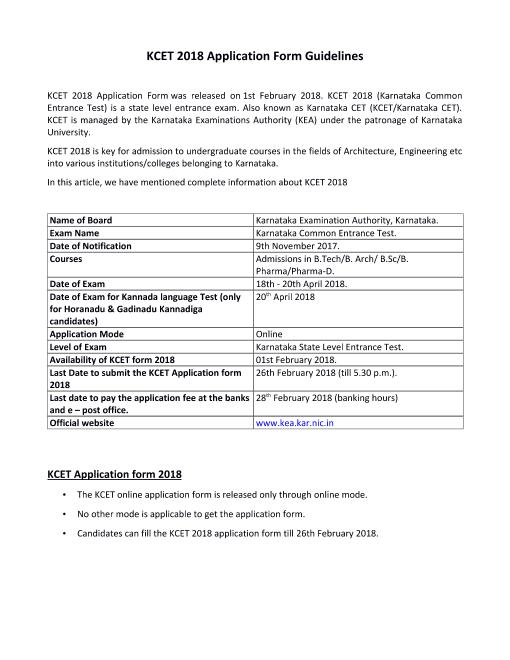 KCET Application Form (1) part-1