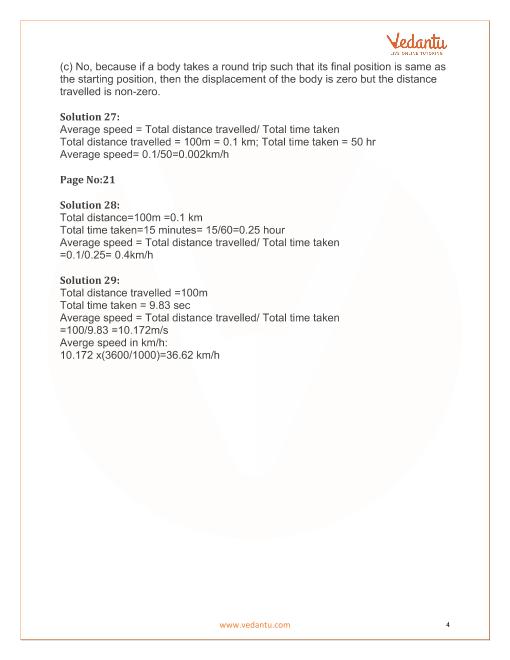 lakhmir singh physics class 9 solutions chapter 1 motion
