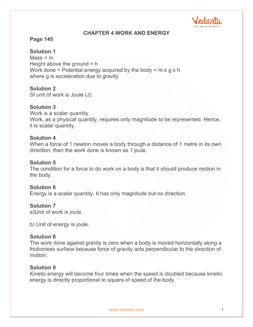 CHAPTER 4 WORK AND ENERGY part-1