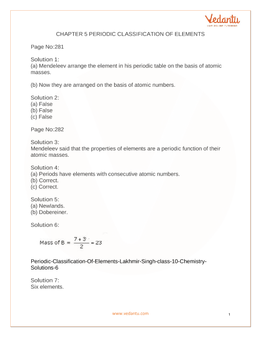 CHAPTER 5 PERIODIC CLASSIFICATION OF ELEMENTS  part-1