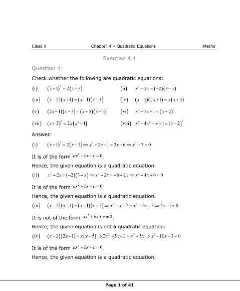 Ncert 10th Maths Pdf