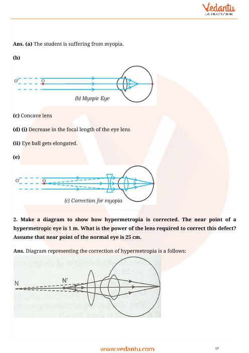 Important questions for cbse class 10 science chapter 11 human eye important questions for cbse class 10 science chapter 11 human eye and colourful world ccuart Choice Image