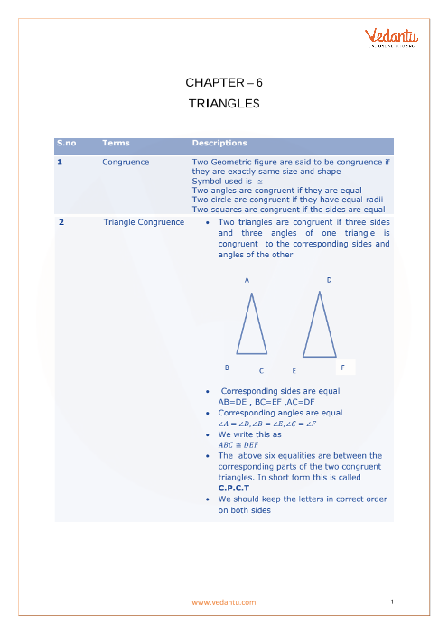 Chapter 6 - Triangles Formula part-1