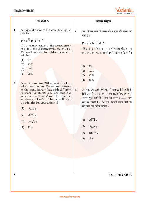 JEE Main 2017 Physics Question Paper with Answer Keys-9th-April part-1