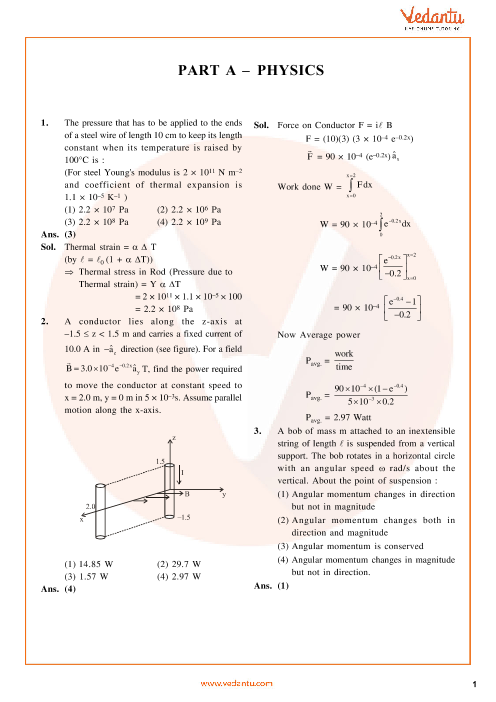 JEE Main QP with Solutions 2014 Set-H part-1
