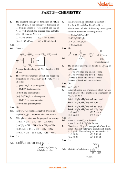 JEE Main Chemistry QP with Solutions 2014 Online-09-04-2014 part-1