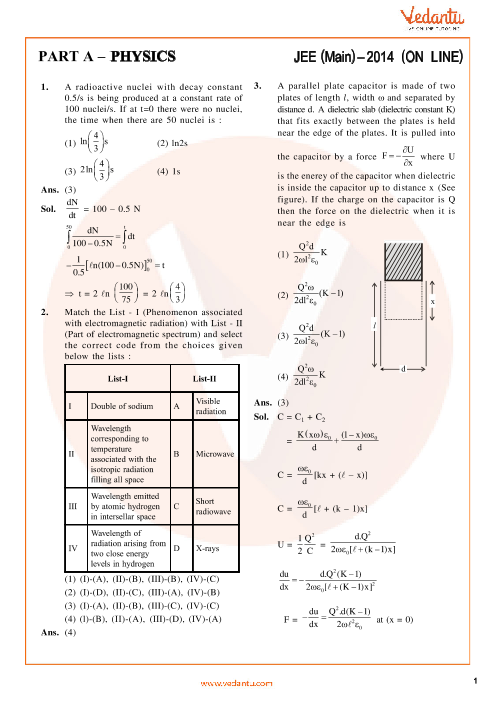 JEE Main 2014 Physics QP with Solutions Online-11-04-2014 part-1