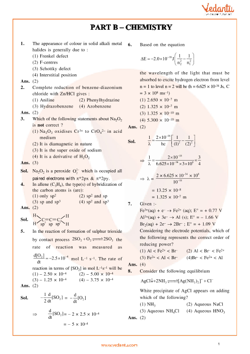 JEE Main Chemistry QP with Solutions 2014 Online-11-04-2014 part-1