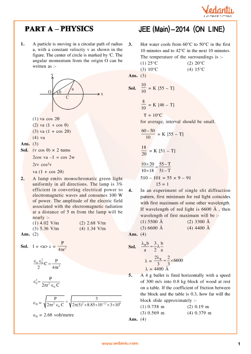 JEE Main 2014 Physics QP with Solutions Online-12-04-2014 part-1