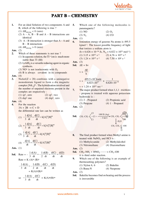 JEE Main Chemistry QP with Solutions 2014 Online-19-04-2014 part-1