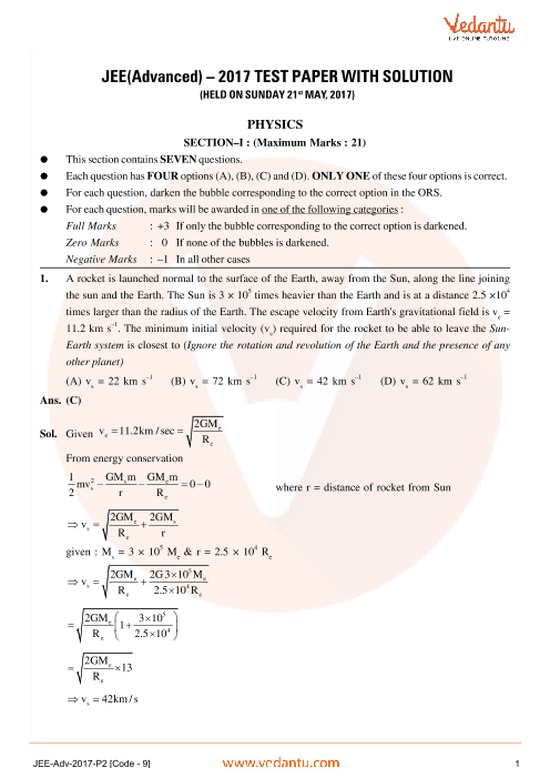 Physics-JEE_Adv_previous_year_paper_P2_(code-9)_2017 part-1