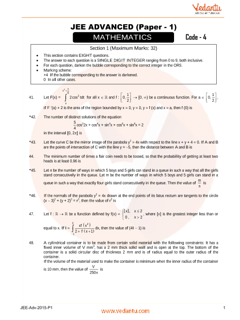 Maths_JEE_Adv_previous_year_paper_2015_P1 part-1