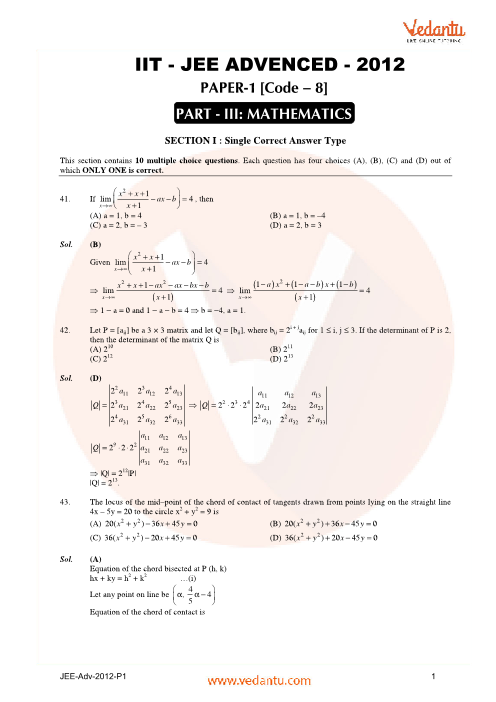 Maths_JEE_Adv_previous_year_paper_2012_P1 part-1