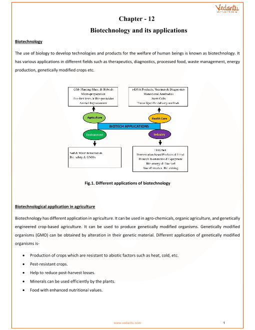 Chapter-12-Biotechnology and its applications part-1