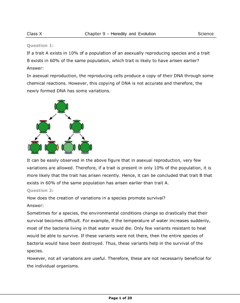 NCERT Solutions for Class 10 Science Chapter 9 part-1