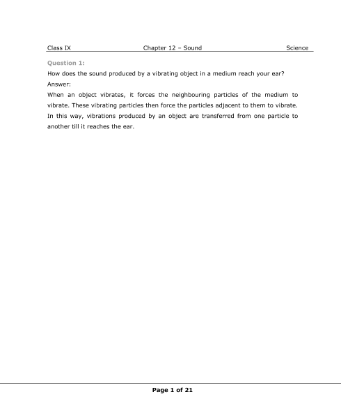 NCERT Solutions for Class 9 Science Chapter 12 part-1