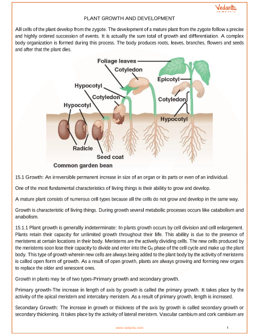 Chapter 15 - Plant Growth and Development part-1