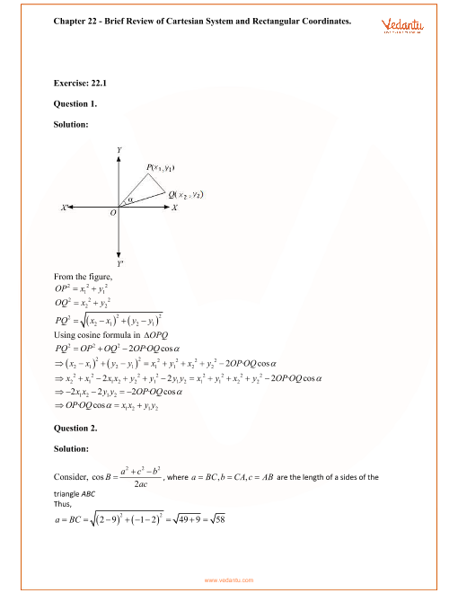 RD Sharma Class 11 Solutions Chapter 22 part-1