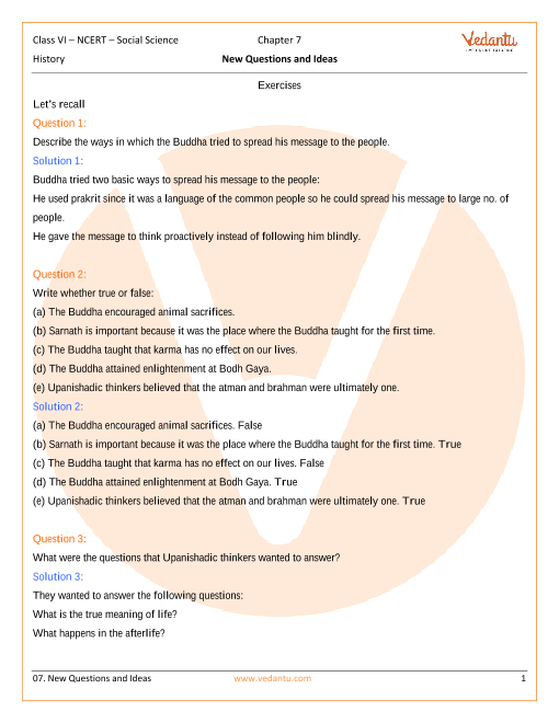 NCERT Solutions Class 6 SST History - Our Past Chapter-7 part-1