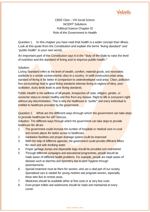 NCERT Solutions for Class 7 Social Science Political life Chap-2 part-1