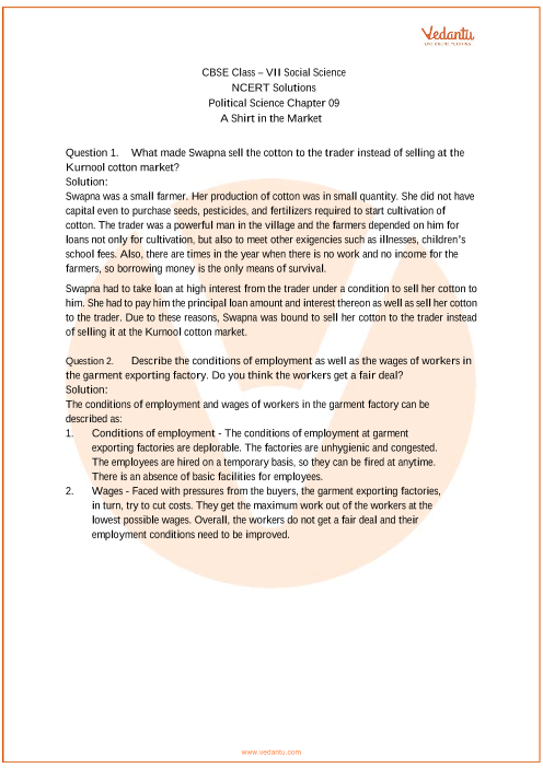 NCERT Solutions for Class 7 Social Science Political life Chap-9 part-1