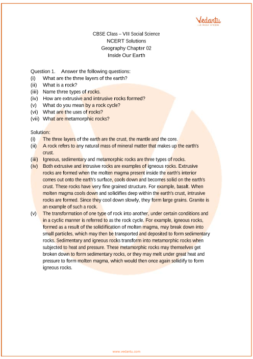 NCERT Solutions for Class 7 Social Science Geography Chap-2 part-1