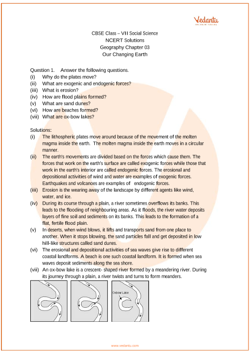 NCERT Solutions for Class 7 Social Science Geography Chap-3 part-1