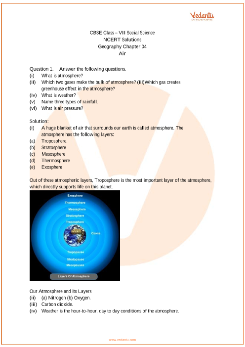 NCERT Solutions for Class 7 Social Science Geography Chap-4 part-1